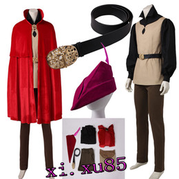 Wholesale free role playing - Cartoon Tairy Tale Role-play Sleeping Beauty Princess Aurora Prince Phillip woods Cosplay Costume Full Set Any Size Free Shipping