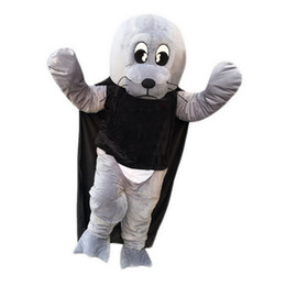 Wholesale Adult Sea Costume - Sea lion Mascot Costumes Cartoon Character Adult Sz 100% Real Picture