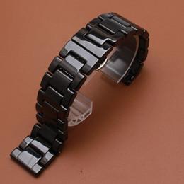 Черные полированные часы онлайн-Полированный ремешок для часов яркий ремешок для часов браслет с складной пряжкой развертывание черный керамический прохладный для смарт-часы передач S2 S3 наручные часы