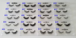 Wholesale Mink Fur Wholesale - Fast Free Shipping DHL EMS 1 Pair 20 Styles OEM Acceptable Real 3D Multi-Layered Mink Hair Fur Eyelashes Messy Luxury Eye Lashes