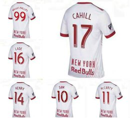 Wholesale usa rugby shirt xl - 2017 2018 New York 17 18 BullS Men Jerseys teens Shirt Thierry Henry MCCARTY WRIGHT-PHILLIPS SAM USA Occupation League Red Rugby Wear