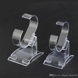 Wholesale White Bracelet Holder - 2 PCS Clear Acrylic Watch Display Holder Bracelet display rack Watch rack hyaline