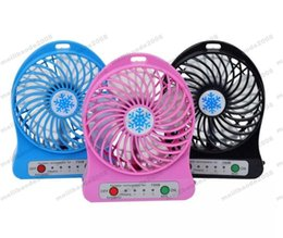 Wholesale Usb Rechargable Batteries - 2017 NEW portable mini USB fan rechargable USB fan USB cooling fan rechargeable battery handheld portable with light MYY