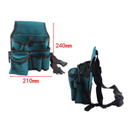 Wholesale Tools For Electricians - Wholesale-Multifunctional Tool Bag Waist Hanging Bag with Belt for Electrician Durable Waterproof Oxford Cloth F type