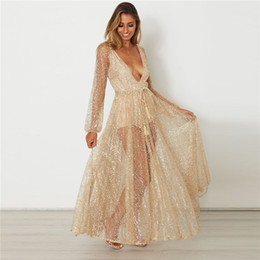 Wholesale Ankle Bells - low price sexy deep V Evening dress,high class long evening dress with shinng stone,sexy dress for party