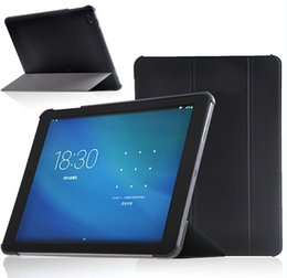 Wholesale Cube Tablet Cases - Wholesale- Talk9x Stand Leather Cover Case For Cube U65GT Talk9x Flip Magnet Tablet Cover Case + screen protectors+touch pen