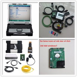 Wholesale Bmw Icom Laptop - 2017 mb star c5 for bmw icom next 2IN1 hdd 1tb latest software with laptop toughbook cf-30 cf30 diagnostic tool ready to use