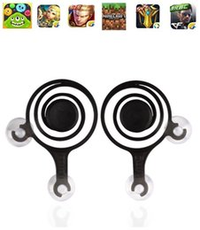 Wholesale Dual Joypad - Hot Newer Mobile Joystick Android IOS Cell Phone Gamepad Joystick Touch Screen Game Joypad Dual-stick Joysticks For Smartphone
