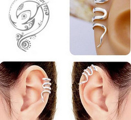 Wholesale Earring Clips Vintage - Vintage earring jewelry Gothic Punk Snake Cartilage Ear Cuff Clip Wrap Earrings jewelry 50pcs Free Shipping