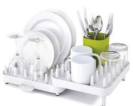 Wholesale Double Dish Rack - Hot Sales Adjustable Cutlery Dishes Rack Draining Tableware Storage Holder Rack