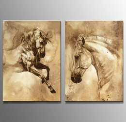 Wholesale Abstract Horse - Unframed Horse Head Animal painting Oil Painting On Canvas Giclee Wall Art Painting Art Picture For Home Decorr