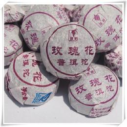 Rosa de té chino online-250g Rose Puer Tea Mini Tuocha, Mini Puerh chino, Yunnan Shu Pu Erh Tea Rose Flavor
