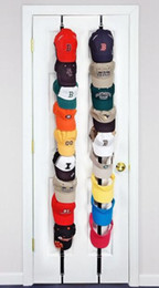 Wholesale Hats Holders - Baseball Cap Holder hat Hang up Organizer Cap Display Rack Over Door Hat Bag Clothes Rack Holder 2-pack to hold 16 caps with retail box