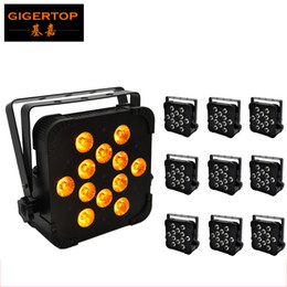 Wholesale Indoor Flood Led Bulb - TIPTOP 10XLOT LED 12pcs High Power LED Indoors 15W 5in1 Building Flood Floor Projector Double Yoke Room Decoration LED Lighting