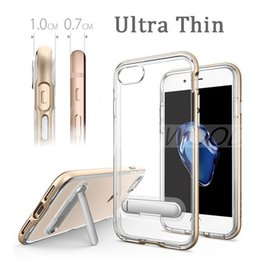Wholesale Clear Iphone Backing - Fashion Luxury Hard Plastic & TPU Hybrid Cases Original Quality Wholesale Price Clear Back Cover Shock Proof Case Stand For iPhone 7 Plus