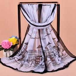 Wholesale Silk Scarf Dots - 2017 New Woman polyester dot house chiffon scarf wholesale cheap long Silk scarves factory direct sale