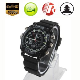 Wholesale Mini Spy Watch - W1000 Spy Hidden Cameras 8GB 16GB Watch Night vision IR Cam Digital Video Mini Camera HD 1080P AVI Camcorder DVR Recorder listen device