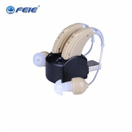 Wholesale Hearing Aid Voice Amplifier - Behind Ear Hearing Aid Amplifier Rechargeable Voice Sound Medico Aids S-109S Deafness Earphone audiophone Free Shipping