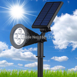 Wholesale power led blue spot lights - Wholesale- led Solar Power Outdoor Garden Spot Light Grondspots Solar LED Lawn Lamp Light RGB Wall Yard Spotlight Landscape Lighting Kit