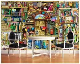 Fiabe murale online-Carta da parati 3D foto personalizzata 3d murales carta da parati Cartone animato dipinto a mano libreria camera dei bambini fiaba sfondo carta da parati decorazioni per la casa
