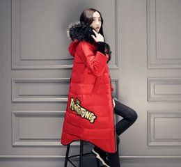 Wholesale Down Coat Raccoon Collar - Womens Down Parkas Winter Coat Warm Jackets Hoodies Imitation Raccoon Fur Collar Windbreakers Larger Size S-5XL High Quality Cheapest