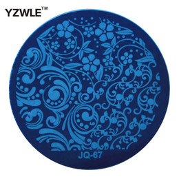 Wholesale nail polish images - Wholesale- YZWLE 1 Sheet Stamping Nail Art Image Plate, 5.6cm Stainless Steel Template Polish Manicure Stencil Tools (JQ-67)
