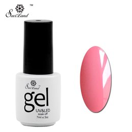 Wholesale Uv Gel Nail Varnish Kit - Wholesale-Saviland 1pcs Color Gel Polish Soak Off UV LED Nail Manicure Kit 58 Colors Set Esmaltes Primer Lacquer Varnishes