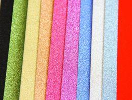 Wholesale Glitter Sheeting - New Eco-Friendly Self-adhesive A4 Glitter Bling paper EVA Foam Sheet DIY Craft Home Wall Decorations 10pcs lot