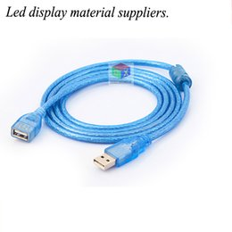 Wholesale Usb Mouse Extension - Led display USB extension line male to female computer usb lengthened line U disk mouse keyboard extension line 3 meters