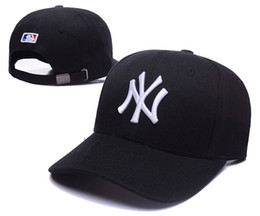 Wholesale Dark Green Top Hat - New Caps 2018 NY baseballl Snapback Caps Leather Bill Hats Black Color Team Hat Snapbacks Mix Match Order All Caps Top Quality Hat
