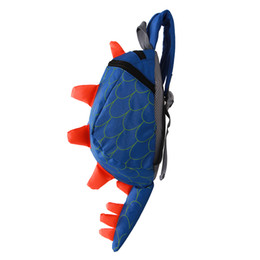 Wholesale Wholesale Backpacks For Kids - Wholesale- Dinosaur Anti lost backpack for kids Children Backpack aminals Kindergarten School bags for 1-4 years