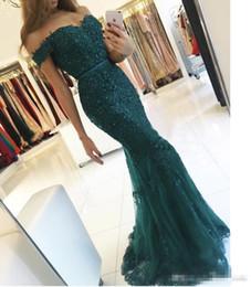 Wholesale Elegant Sweatheart - Emerald Green Elegant Appliques Evening Dresses 2017 Robe De Soiree Beaded Crystal Prom Gowns Backless Sweatheart Mermaid Vestido de Fiesta