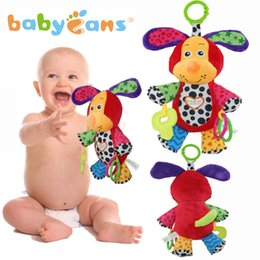 Wholesale Dog Musical - Wholesale- Babyfans High Quality Musical Infant Appease Newborn Toy Plush Handing Bells Toys Music Dog Style 1406