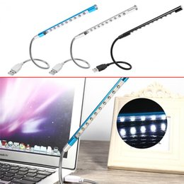 Wholesale Varieties Christmas Light - NEW Metal Material USB LED Night Light Lamp 10LEDs flexible variety of colors for Notebook Laptop PC Computer
