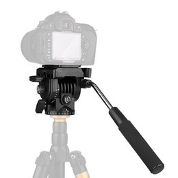 Wholesale quick release tripod plate - KINGJOY VT-1510 Video Fluid Dydraulic Damping Damper Tripod Ball Head with Quick Release Plate for Nikon Canon Olympus DSLR Camera Monopod