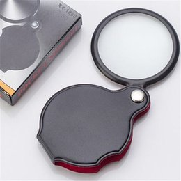 Wholesale Foldable Magnifying Glass - Portable Mini Black 50mm 8x Hand-Hold Reading Magnifying Magnifier Lens Glass Foldable Jewelry Loop Jewelry Loupes Glasses