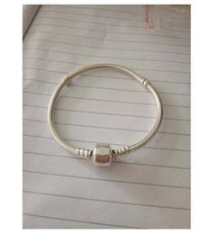 Wholesale Vintage Indian Bead Bracelet - 2017 Original 100% 925 Sterling Silver Snake Chain Vintage Clip Bracelet Fit European pandora Charm Beads Authentic DIY Jewelry Gift