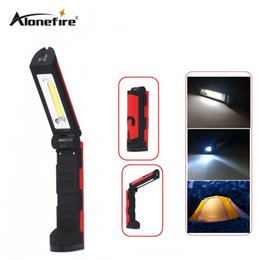 Wholesale Multifunctional Camp Lamp - AloneFire C026 Multifunctional Portable COB LED Magnetic Folding Hook Work Light Flashlight Lanterna Lamp for Camping Hunting Fishing