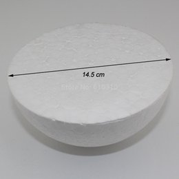Wholesale white craft foam - Wholesale-Free shiping wholesale 14.5cm natural white styrofoam half ball Craft ball foam ball diy handmade painted ball(16pcs lot)