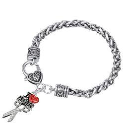 Wholesale Nickel Pendant Charms - Fashion Design Nickel Free Enamel Crystal I Love Hair Scissor Pendant Bracelet