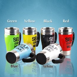 Wholesale Stainless Steel Auto Mug - 6 Colors 350ml Self Stirring Mug Stainless Steel Lazy Self Stirring Mug Auto Mixing Tea Coffee Cup Office Home Gifts