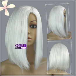 Wholesale Short Gray Wigs - 35cm White Heat Styleable No Bang Short Cosplay Wigs 97_101