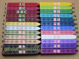 Wholesale Stamp Material - Wholesale- multicolor Sealing wax seal wax stick 24 color available use for wax stamp materials