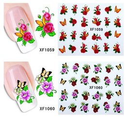 Wholesale Free Transfer Patterns - Multi Animal Flower Pattern Nail Sticker Art Water Transfer Slide Decals DIY Nail Decoration Accessories 50pcs free ship