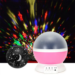 Wholesale Night Moon - Newest Rotation Night Light Starry Star Moon Sky Romantic Night Projector Night Light for wedding party christmas