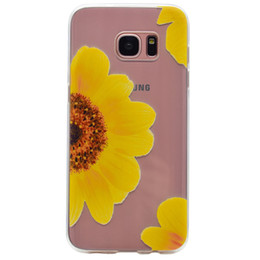 Wholesale Galaxy S4 Soft Silicon Case - Flora Silicon Case for Samsung galaxy S3 S4 S5 S6 S7 edge Chic Flower Soft TPU Phone Back Cover mandala flower covers