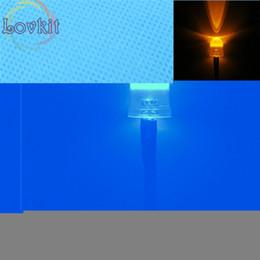 Wholesale Wholesale Leds Resistors - Wholesale- 20pcs 10MM 12v Pre-Wired Resistor Orange Leds Round Top 12V DC 20cm Emitting Diode Led Lamp Light For car DIY HOT SALE Retail