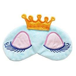 Wholesale Sleep Mask Brands - Wholesale- Pure Fabric Soft Sleeping Aid Eye Mask Cover Shade For Travel Relax Blindfold Blue Pink 2017 Brand