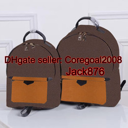 Wholesale Luxury School Bags - Original quality FRANCE luxury brand L PALM SPRINGS BACKPACK MM PM M43116 M41561 M41560 travel bag WOMENS book school bag BOSPHORE