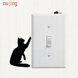 Wholesale Wall Decals Windows - Wholesale- JY 5 Mosunx Business 2016 Hot Selling Room Window Wall Decorating Switch Vinyl Decal Sticker Decor Cartoon